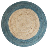 LIGHT BLUE / NATURAL JUTE RUG