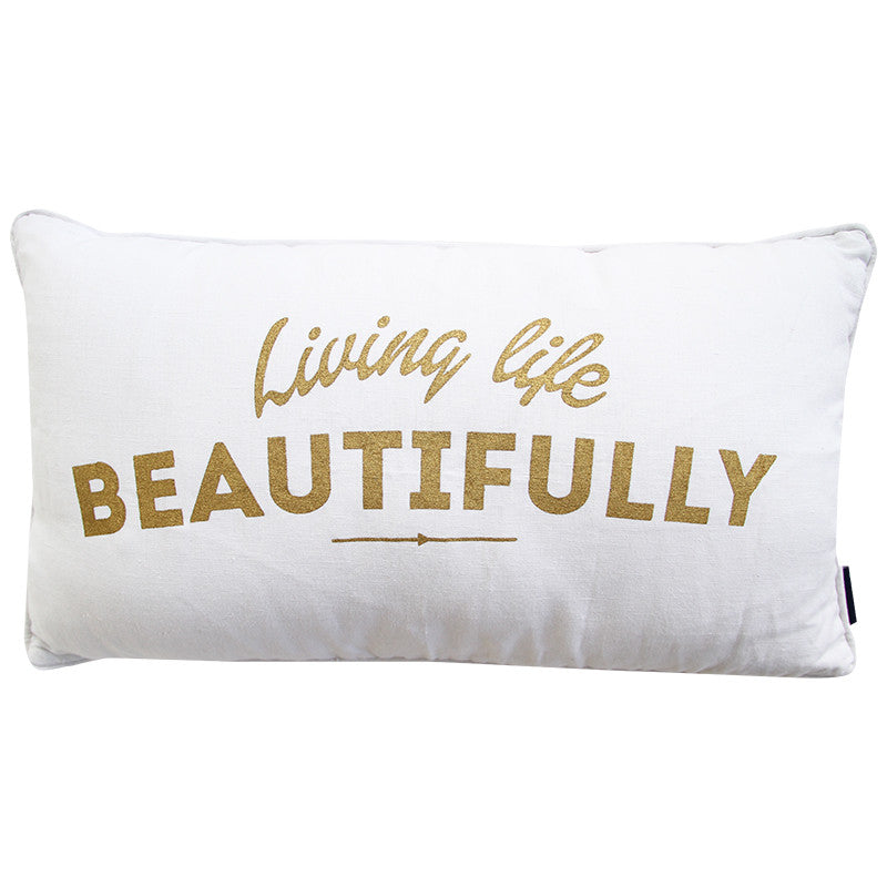 LIVE BEAUTIFUL LIFE CUSHION COVER