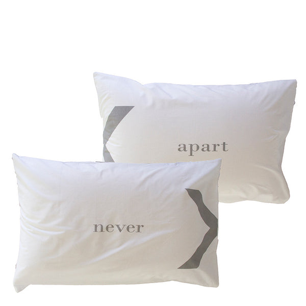 NEVER X APART PILLOWCASE SET