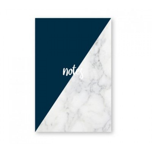 ELM PAPER NOTEPADE - MARBLE & NAVY
