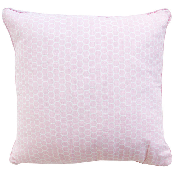 HEXAGON PINK CUSHION COVER