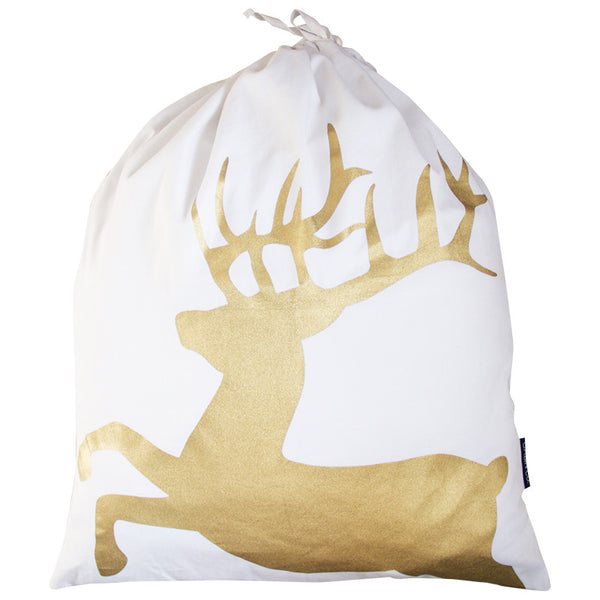 GOLD DEER SANTA SACK