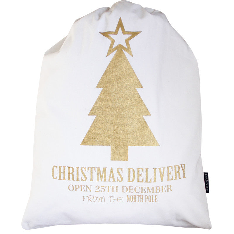 GOLD TREE SANTA SACK
