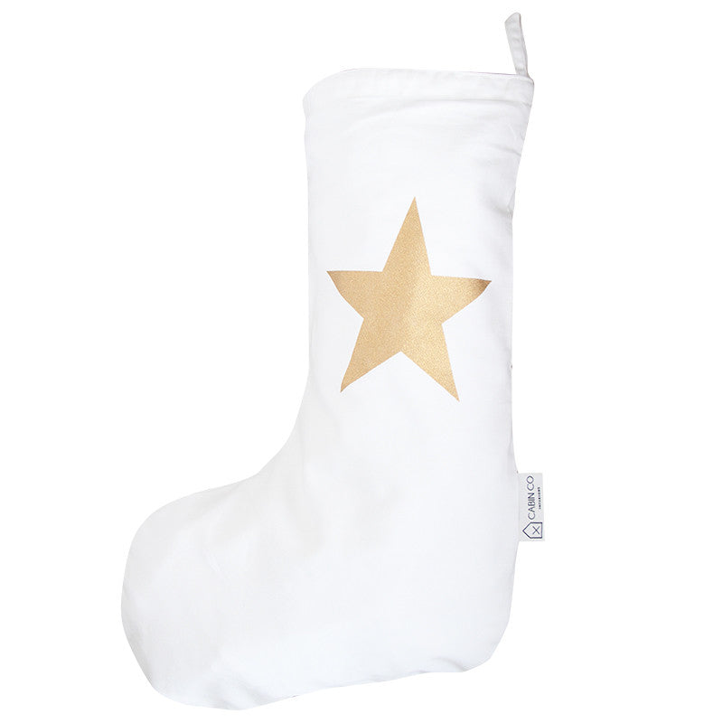 STAR CHRISTMAS STOCKING - COPPER