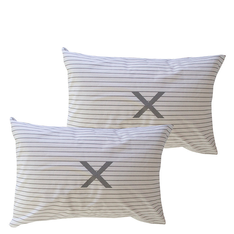 STRIPE X PILLOWCASE SET