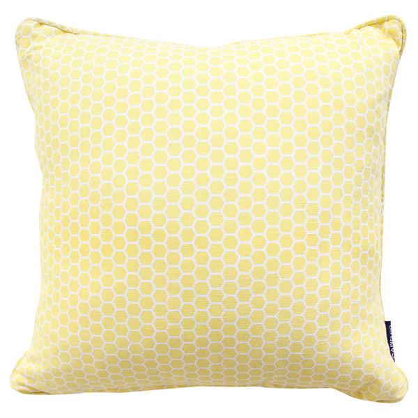 HEXAGON YELLOW CUSHION COVER