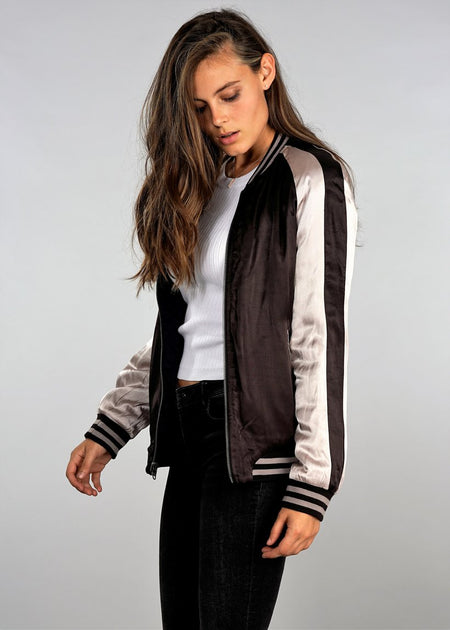Kiara Quilted Bomber Jacket
