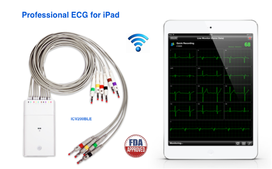 iCV200BLE Electrocardiograph for Ipad