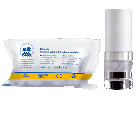 FlowMIR - Disposable turbines box, Spirometer - Medical equipment / Equipo medico - Mediventa USA