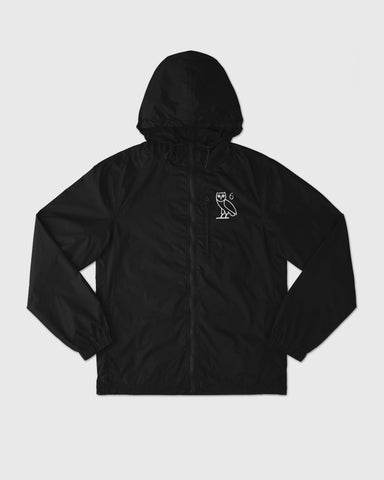 6 OWL PACKABLE WINDBREAKER - BLACK