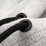 PATCH ZIP-UP HOODIE - GREY