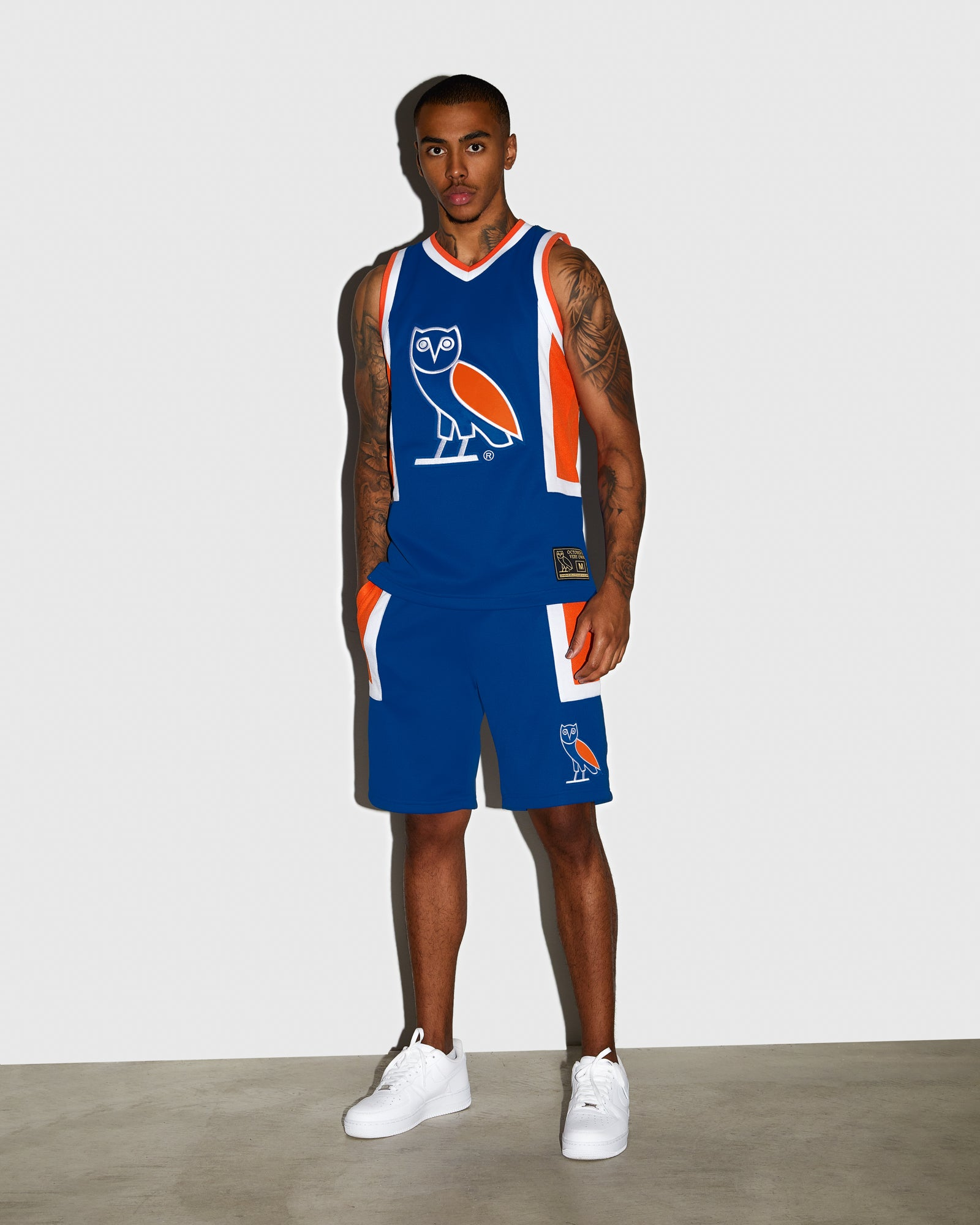 OVO OWL BASKETBALL SHORT - ROYAL BLUE