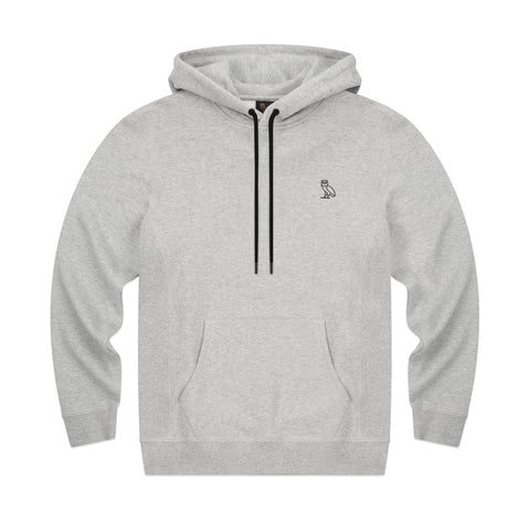 MID-WEIGHT FRENCH TERRY HOODIE - GREY