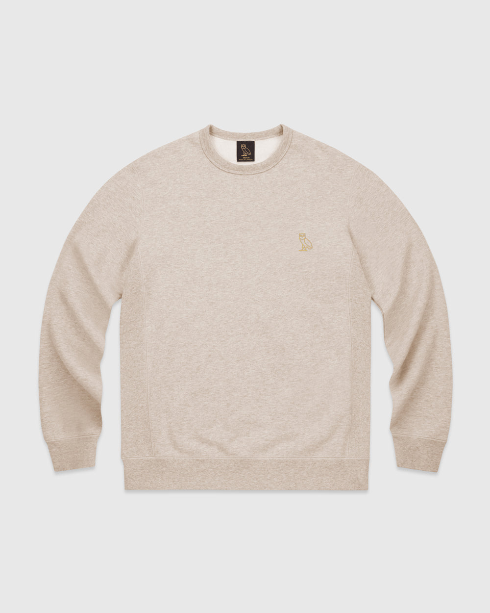OVO FRENCH TERRY CREW - HEATHER OATMEAL