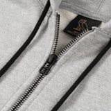 MID-WEIGHT FRENCH TERRY ZIP HOODIE - GREY