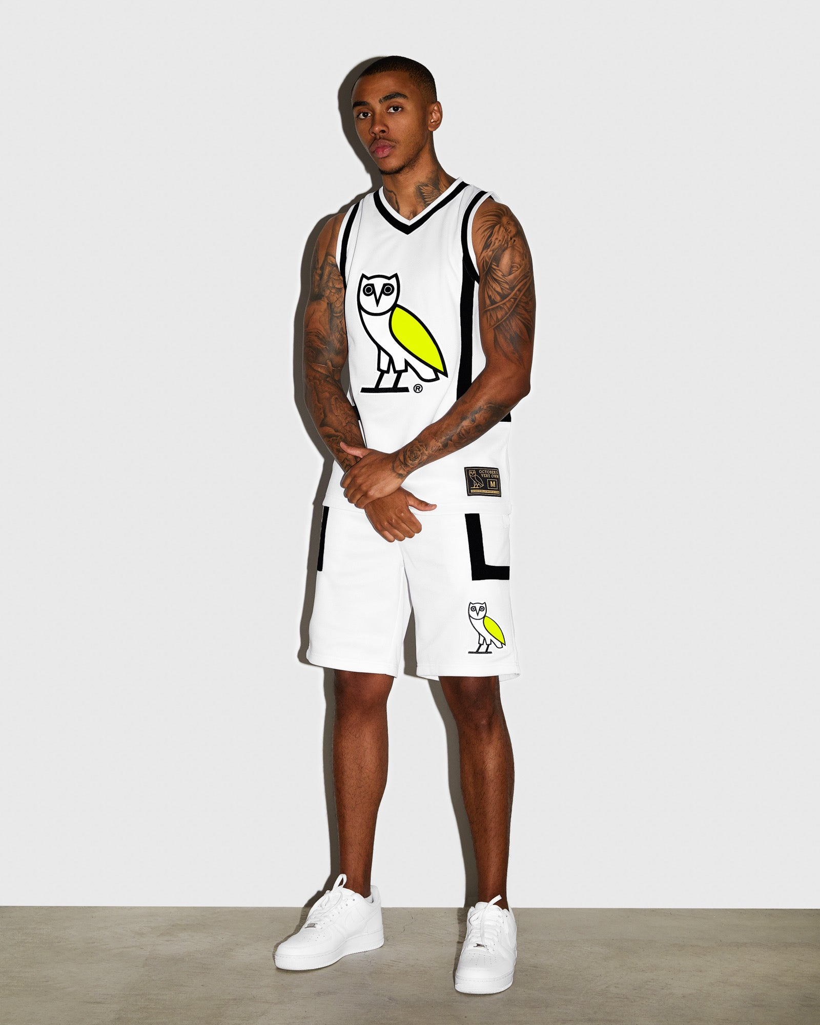 OVO OWL BASKETBALL SHORT - WHITE IMAGE #2