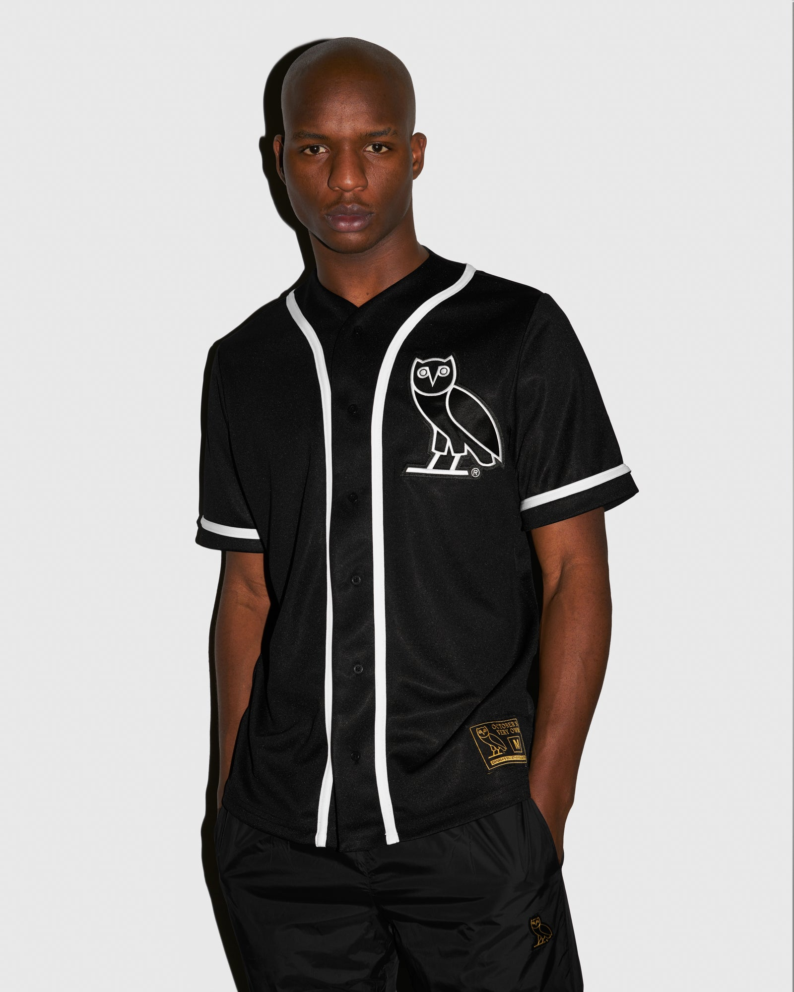OVO BASEBALL JERSEY - BLACK