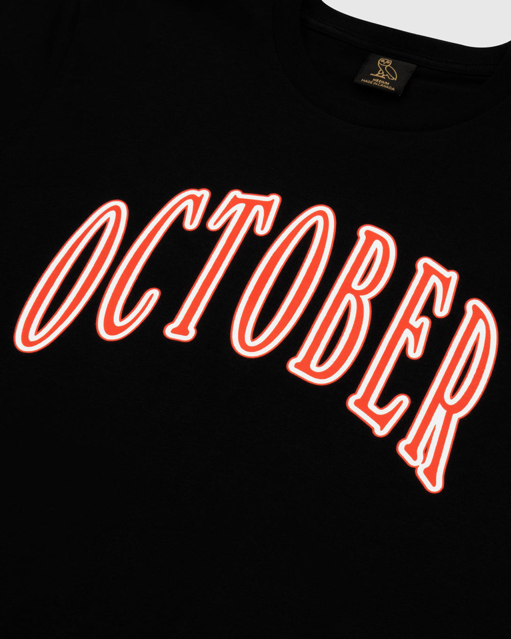 OCTOBER ARCHED T-SHIRT - BLACK