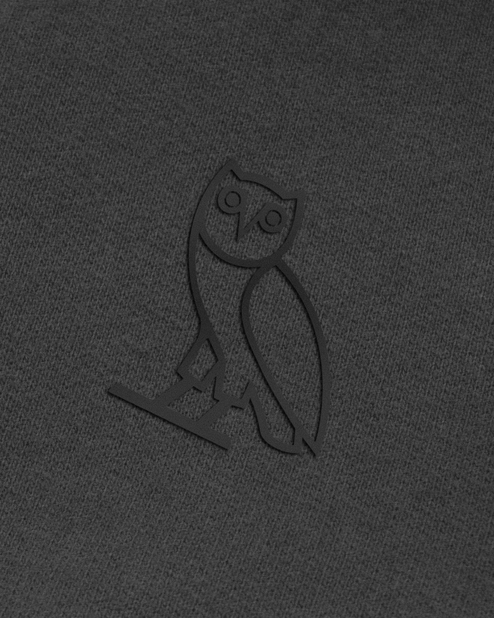 OWL LONGSLEEVE T-SHIRT - HEATHER CHARCOAL IMAGE #3