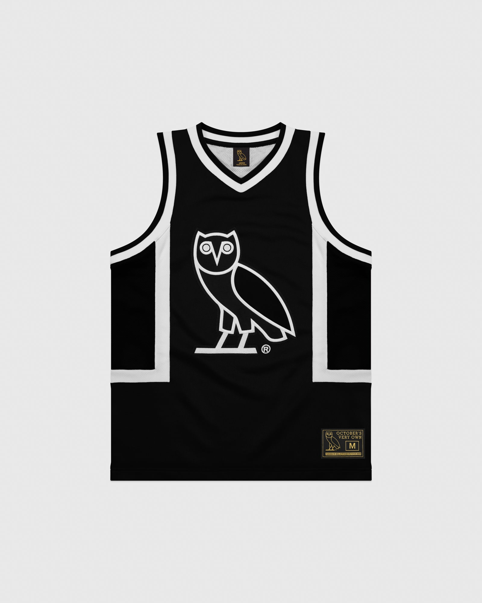 OVO OWL BASKETBALL JERSEY - BLACK