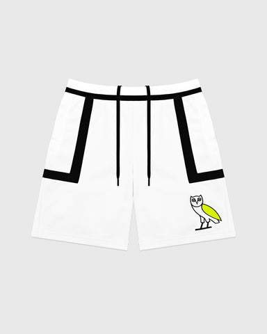 OVO OWL BASKETBALL SHORT - WHITE