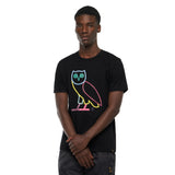 OG OWL MULTICOLOUR T-SHIRT - BLACK