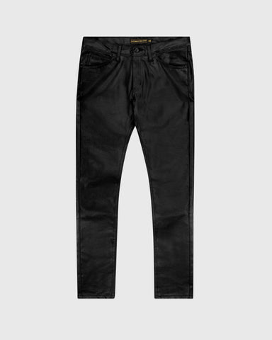 WAXED JEANS - BLACK