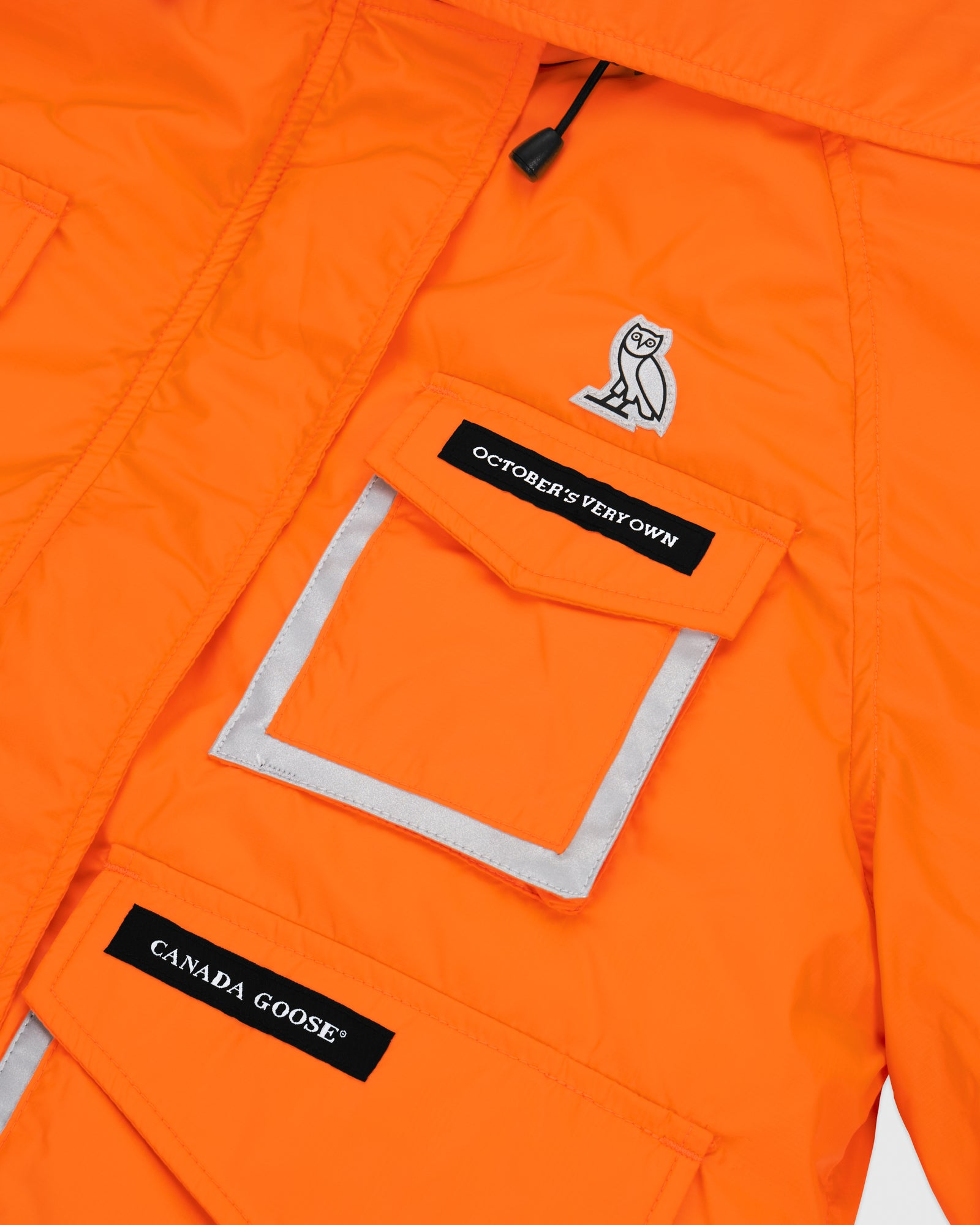 OVO X CANADA GOOSE WOMEN'S CHILLIWACK BOMBER - ORANGE IMAGE #4