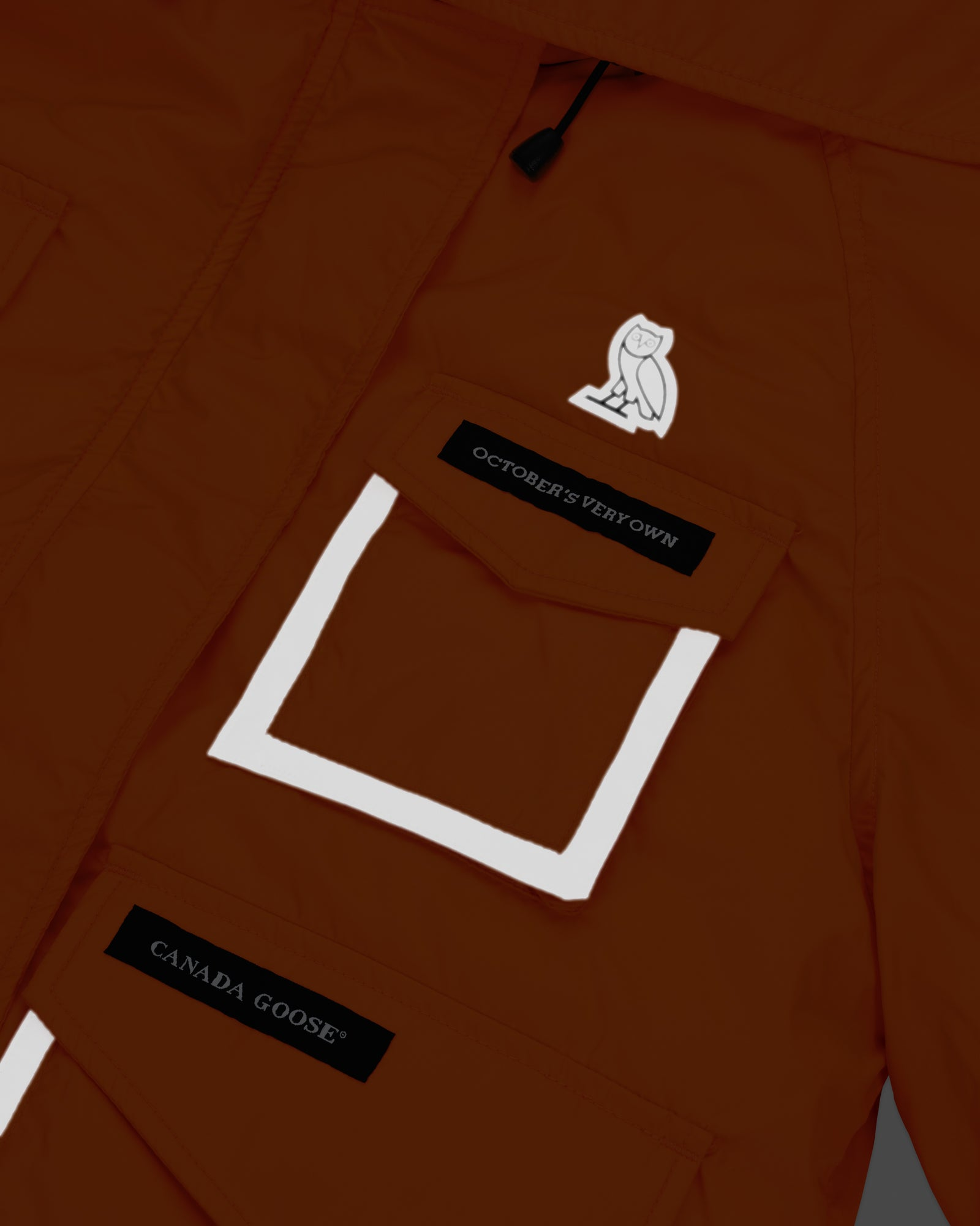 OVO X CANADA GOOSE WOMEN'S CHILLIWACK BOMBER - ORANGE IMAGE #13