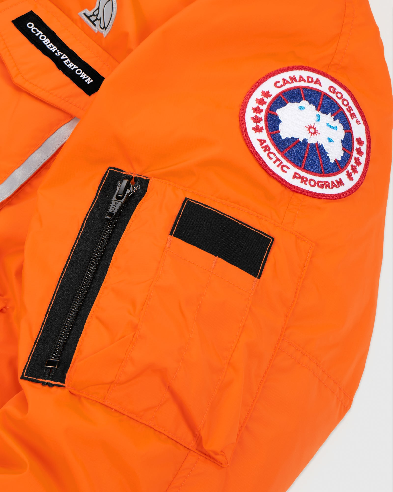 OVO X CANADA GOOSE WOMEN'S CHILLIWACK BOMBER - ORANGE IMAGE #7