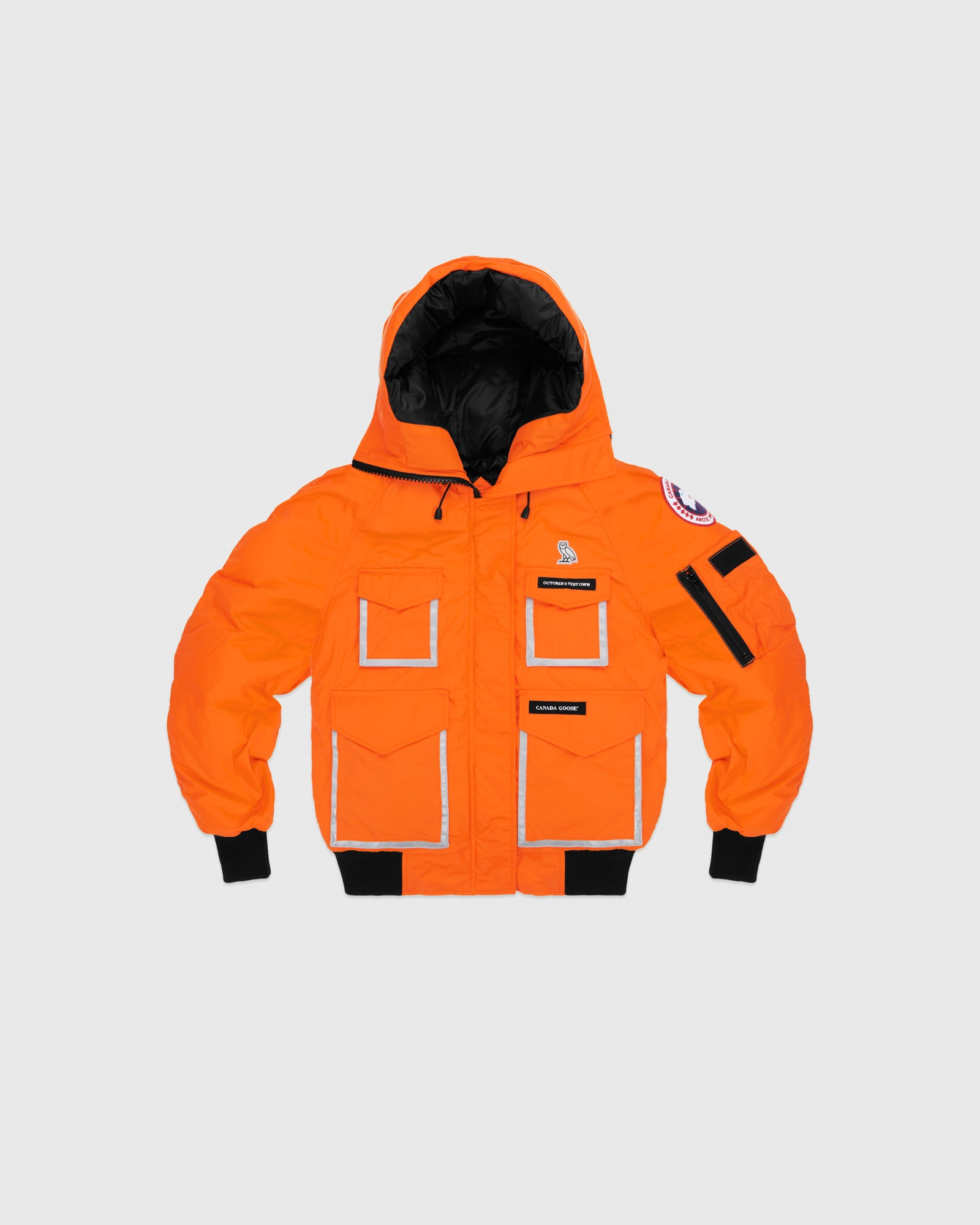 OVO X CANADA GOOSE WOMEN'S CHILLIWACK BOMBER - ORANGE IMAGE #1