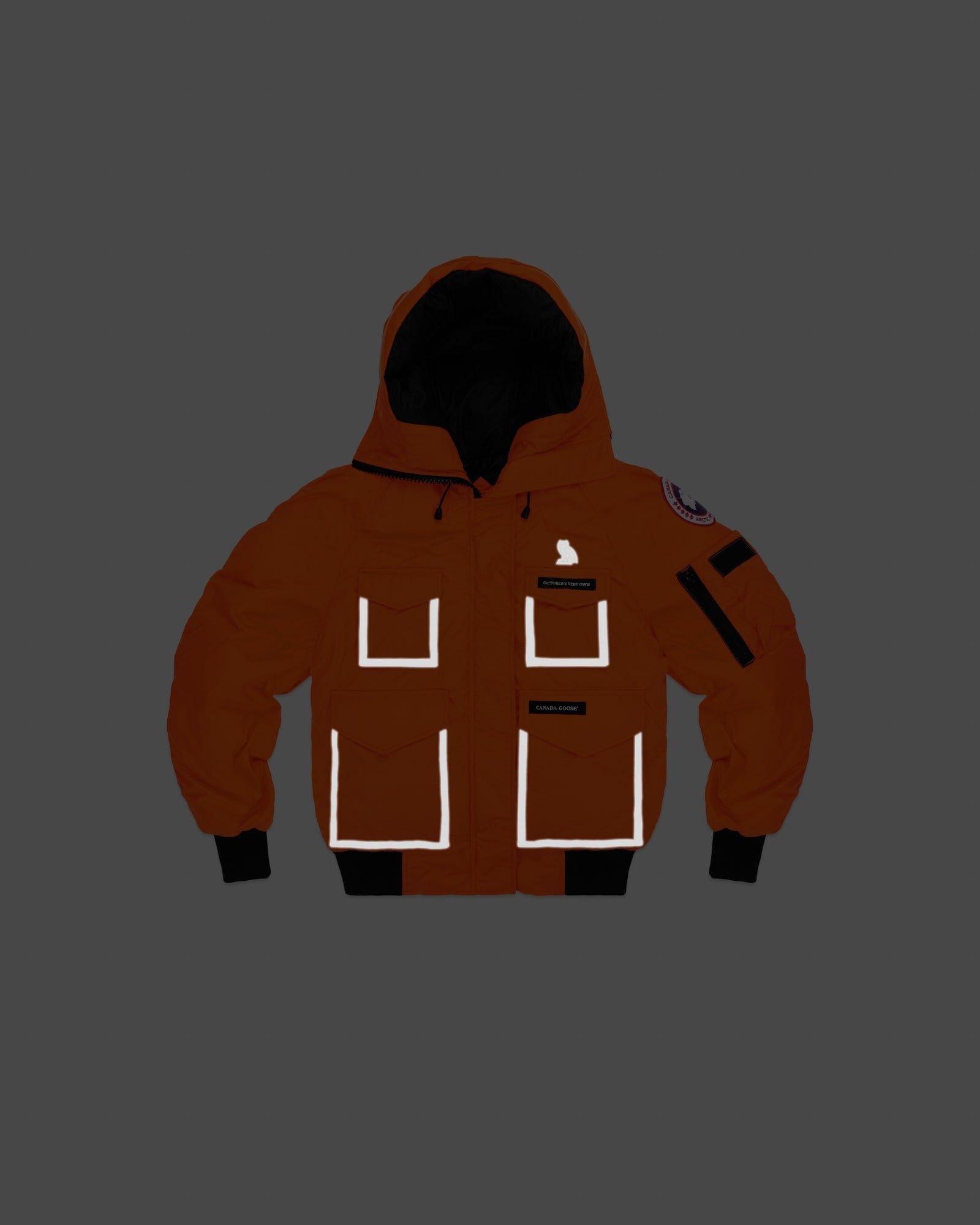OVO X CANADA GOOSE WOMEN'S CHILLIWACK BOMBER - ORANGE IMAGE #12