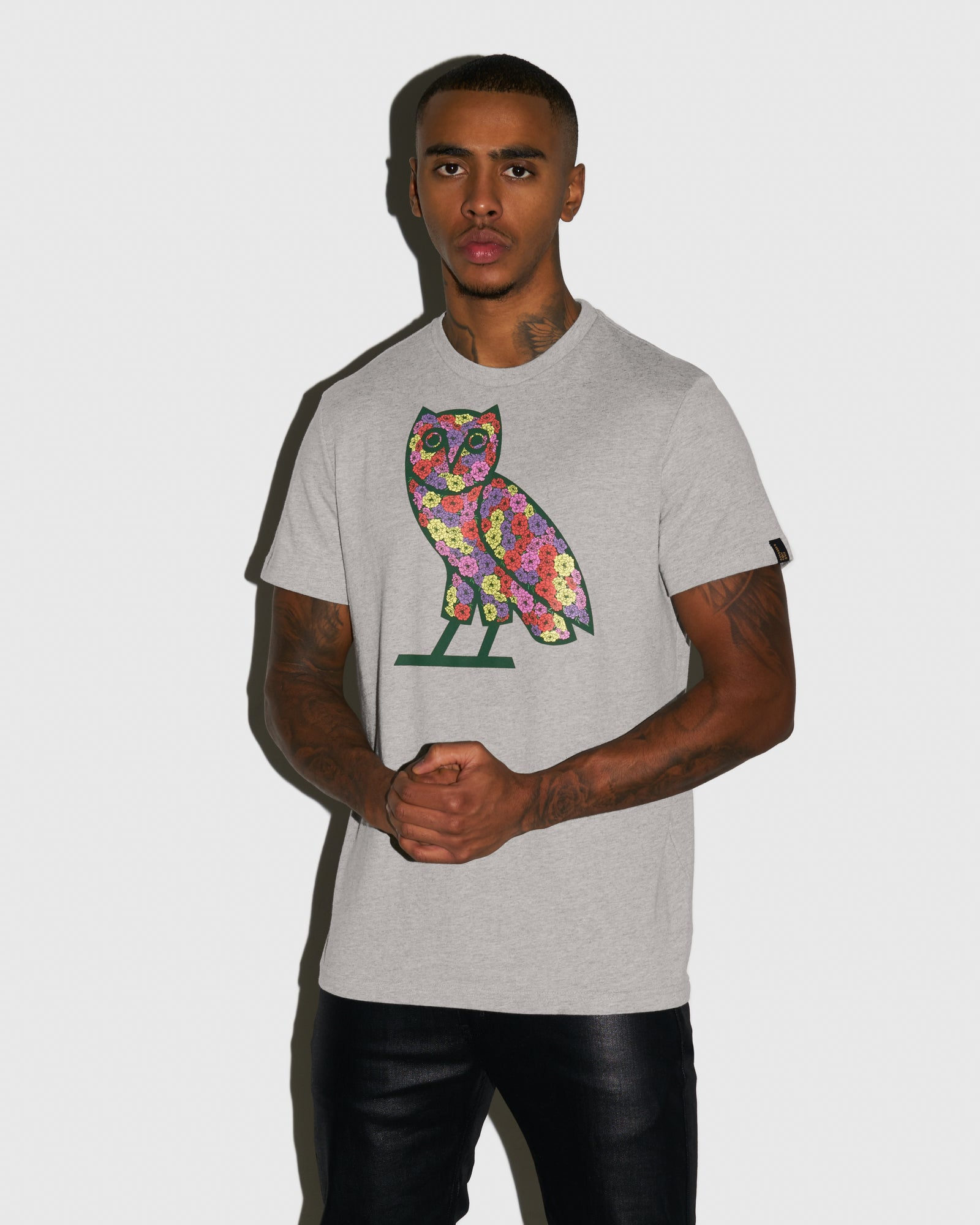 CELEBRATION OWL T-SHIRT - HEATHER GREY IMAGE #2