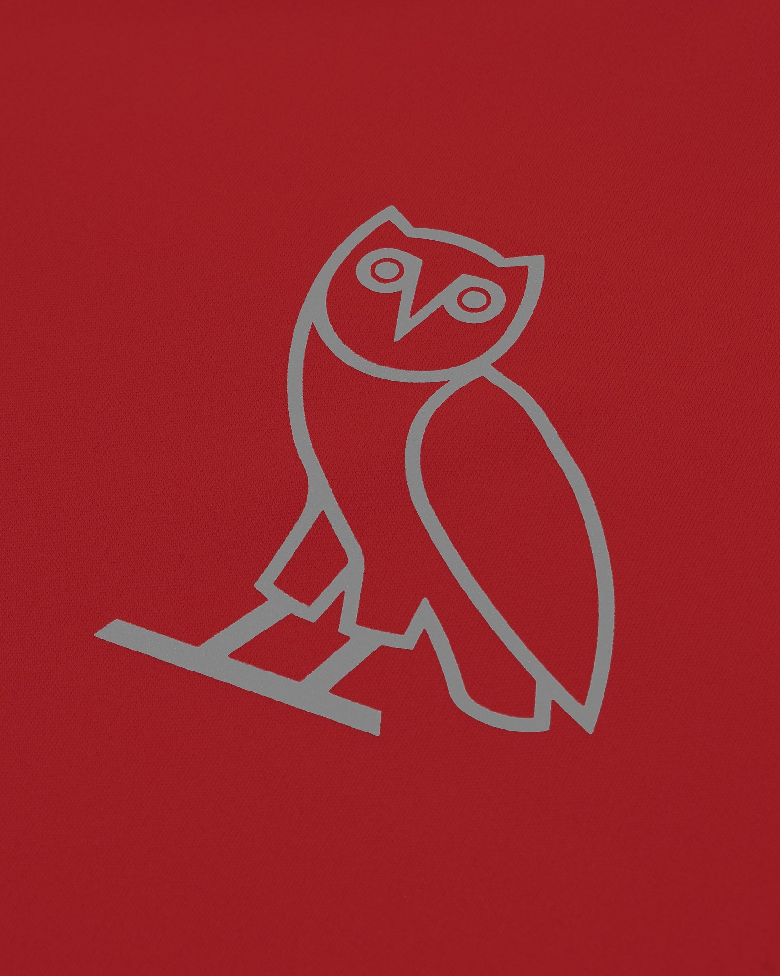 OVO OWL PERFORMANCE LONGSLEEVE T-SHIRT - RED