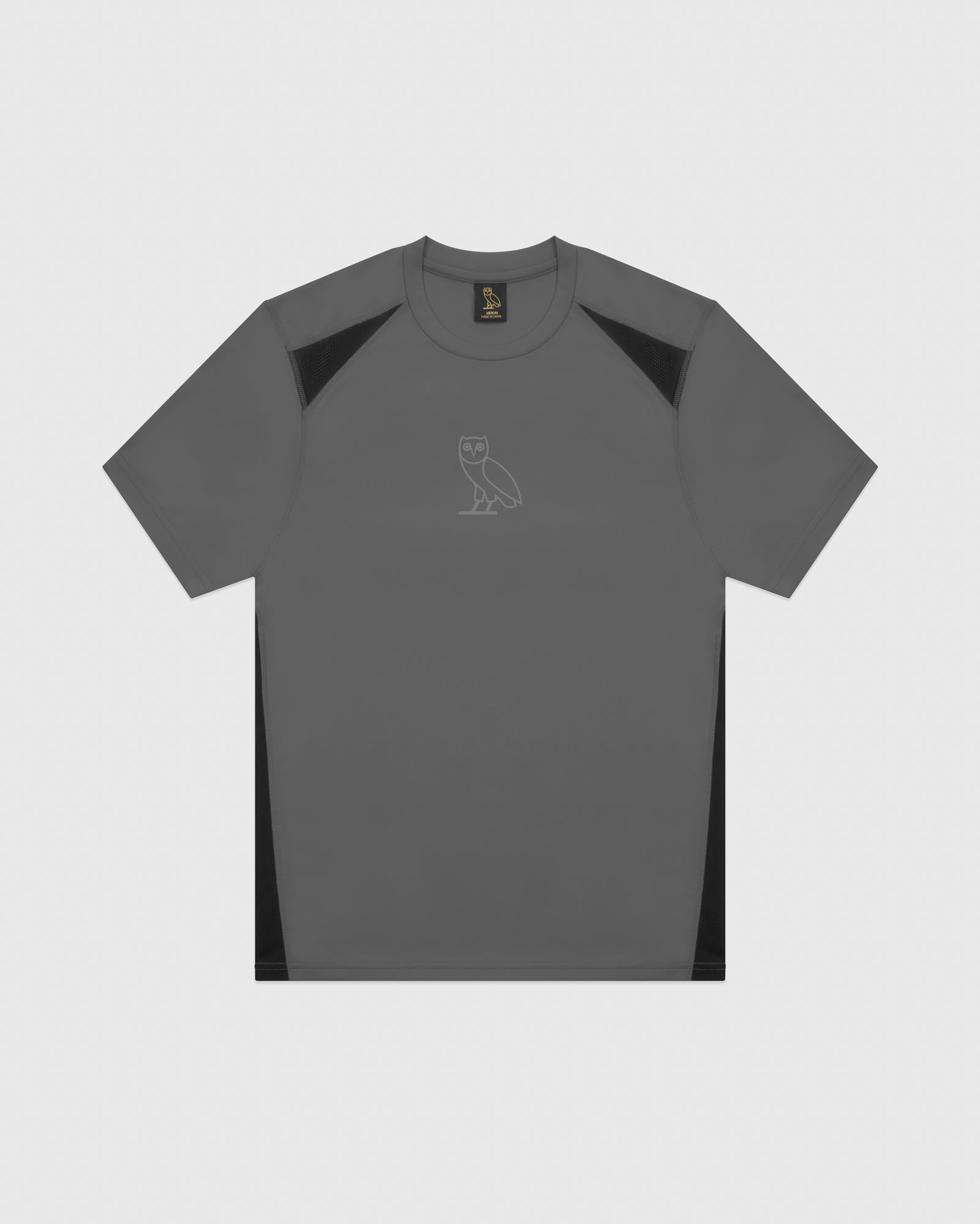 OVO OWL PERFORMANCE T-SHIRT - GREY IMAGE #1