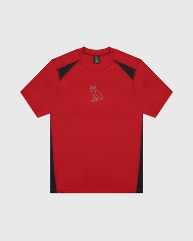 OVO OWL PERFORMANCE T-SHIRT - RED