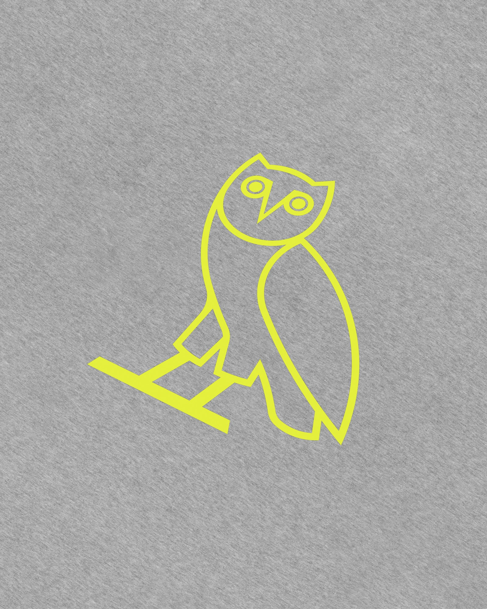 OVO CLASSIC OWL T-SHIRT - HEATHER GREY