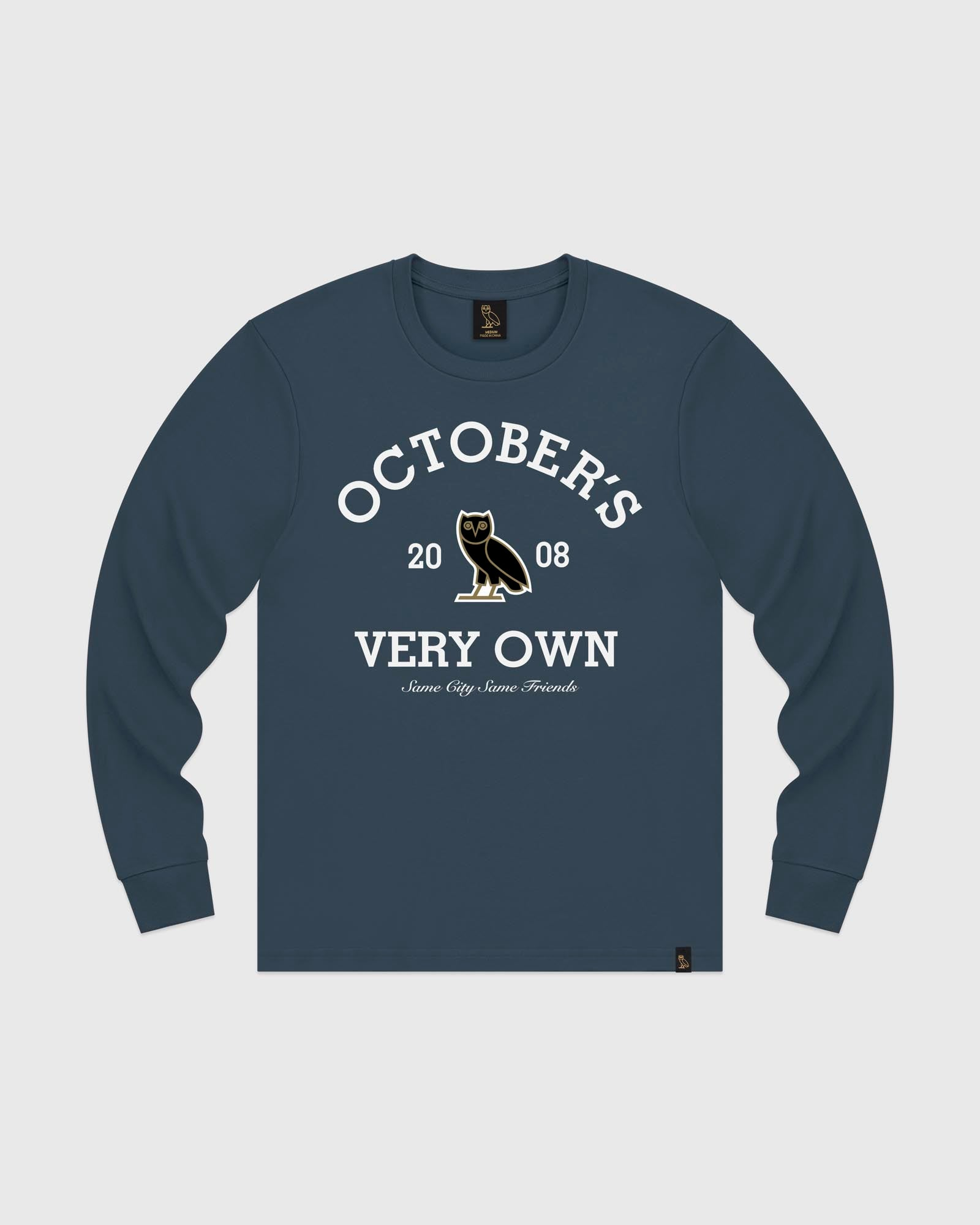 COLLEGIATE ARCH LONGSLEEVE T-SHIRT - STEELE BLUE IMAGE #1