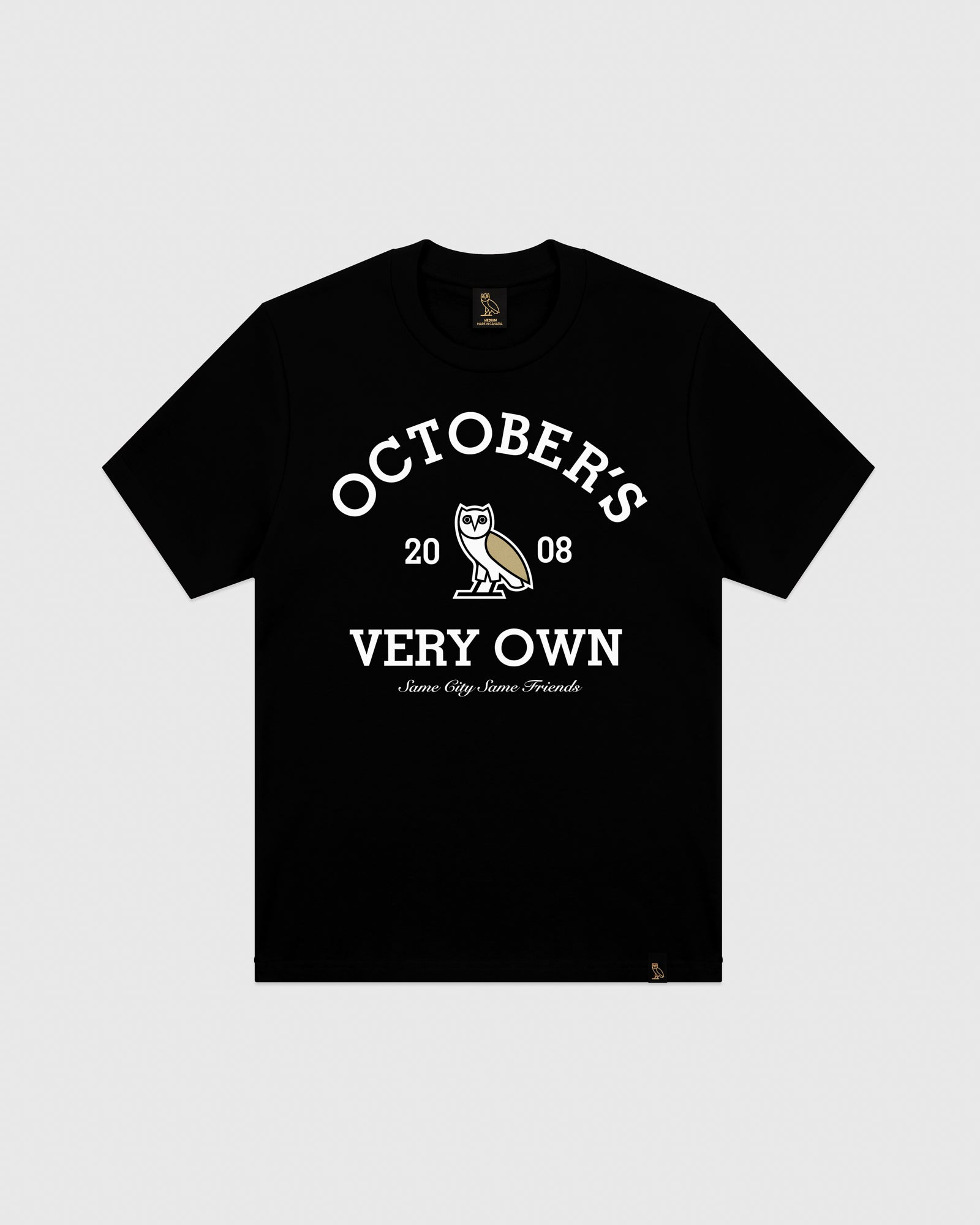 OVO COLLEGIATE T-SHIRT - BLACK IMAGE #1