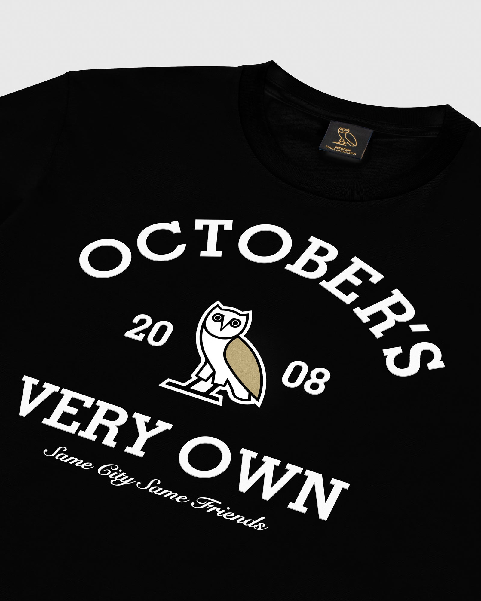 OVO COLLEGIATE T-SHIRT - BLACK IMAGE #3