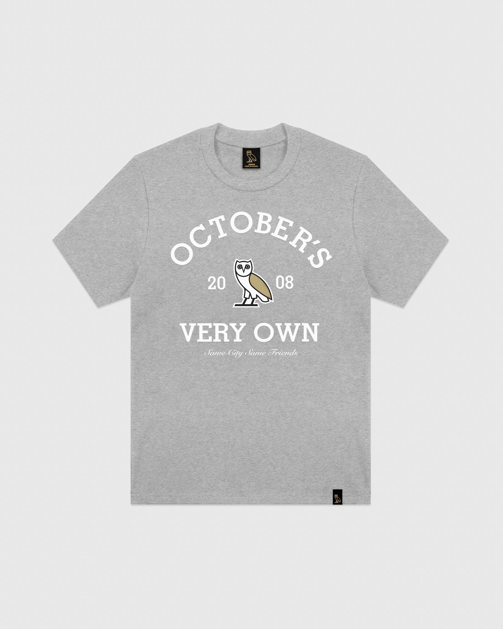 OVO COLLEGIATE T-SHIRT - HEATHER GREY