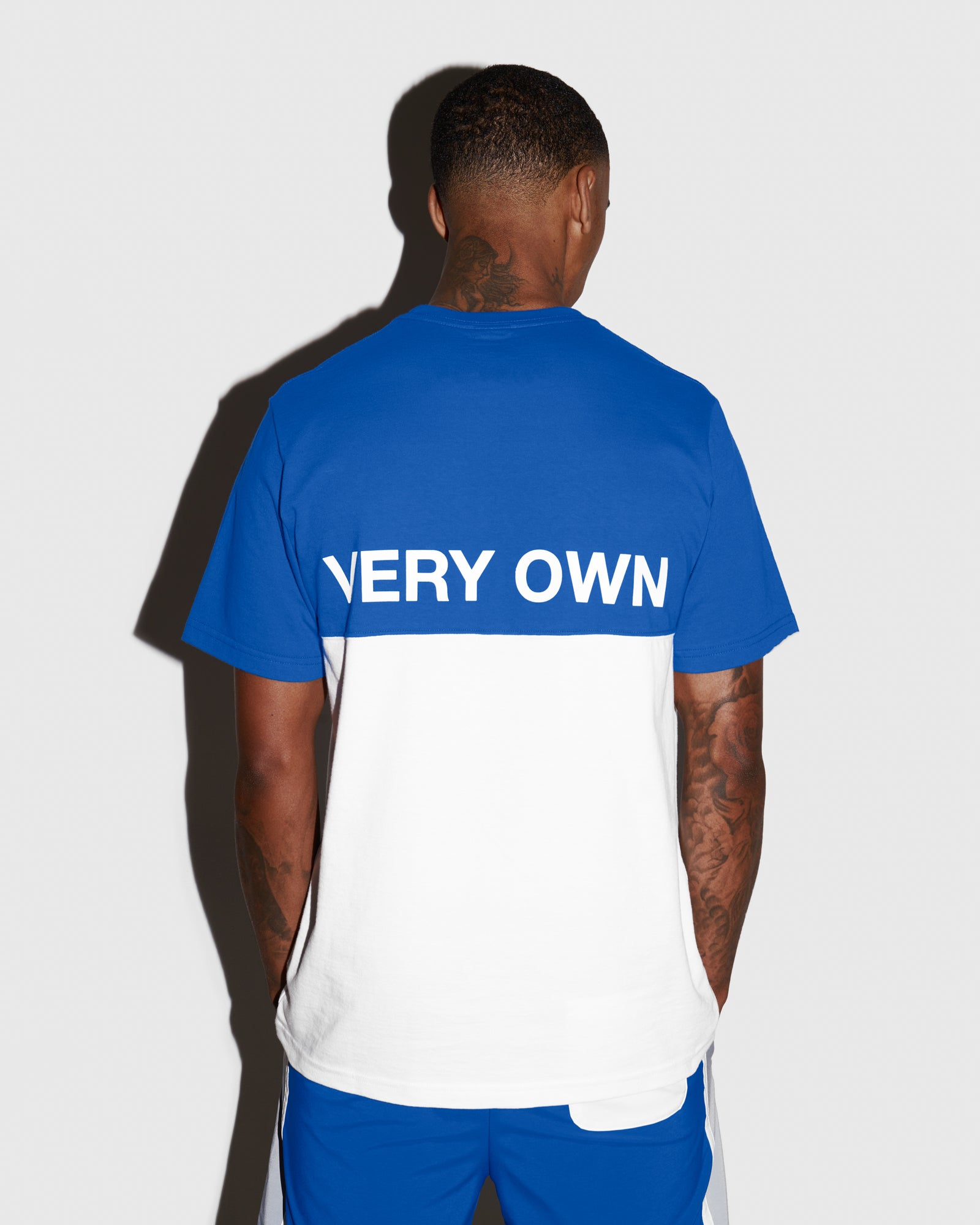 OVO COLOUR BLOCK T-SHIRT - ROYAL BLUE IMAGE #3