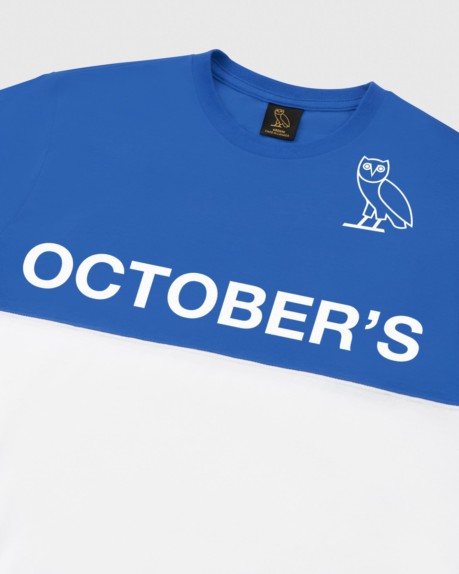OVO COLOUR BLOCK T-SHIRT - ROYAL BLUE IMAGE #4