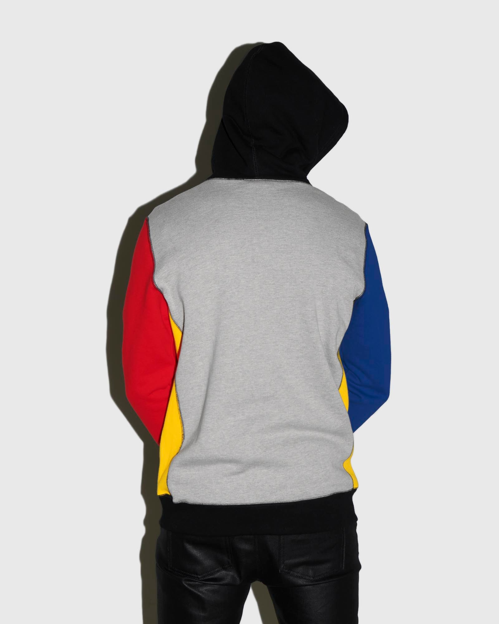 COLOUR BLOCK OWL HOODIE - MULTI COLOUR IMAGE #3