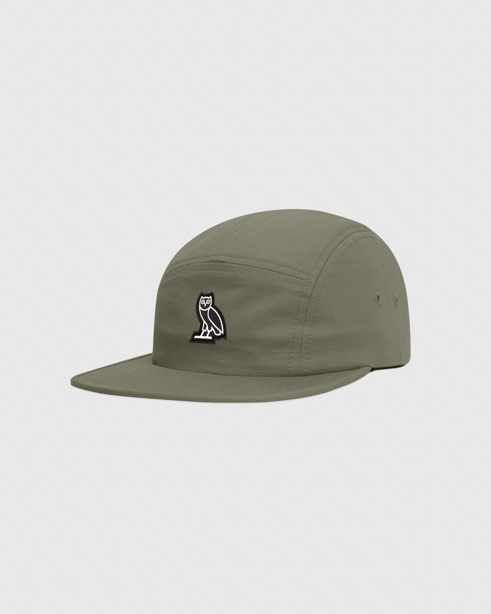 OVO RIPSTOP 5-PANEL CAP - MILITARY GREEN