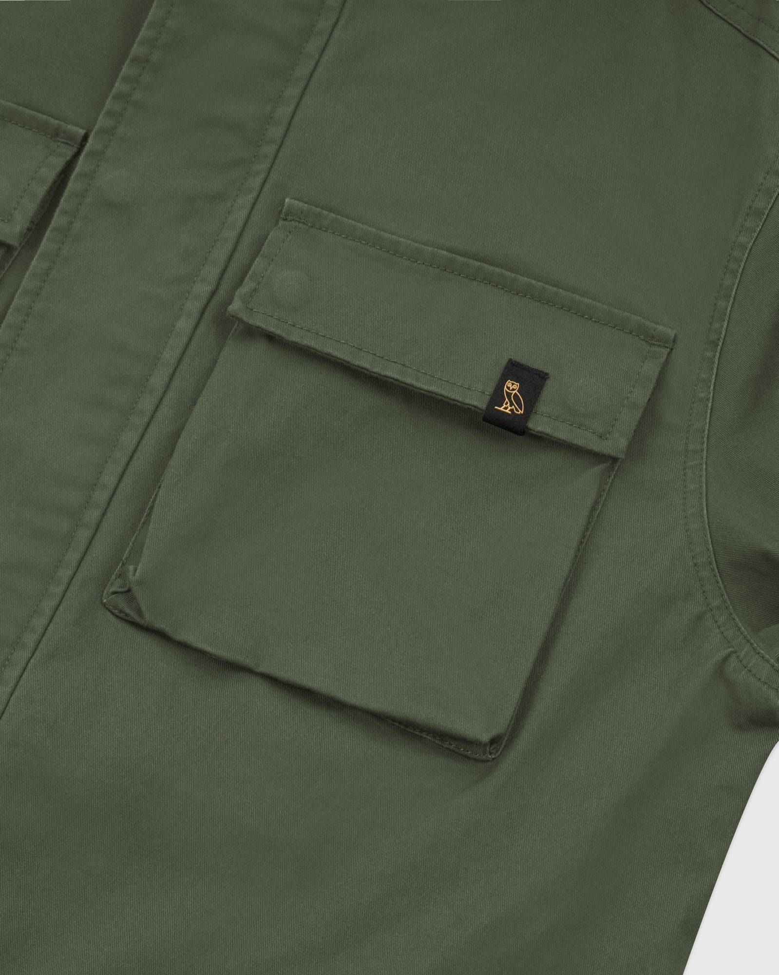 HOODED CARGO JACKET - MILITARY GREEN IMAGE #3
