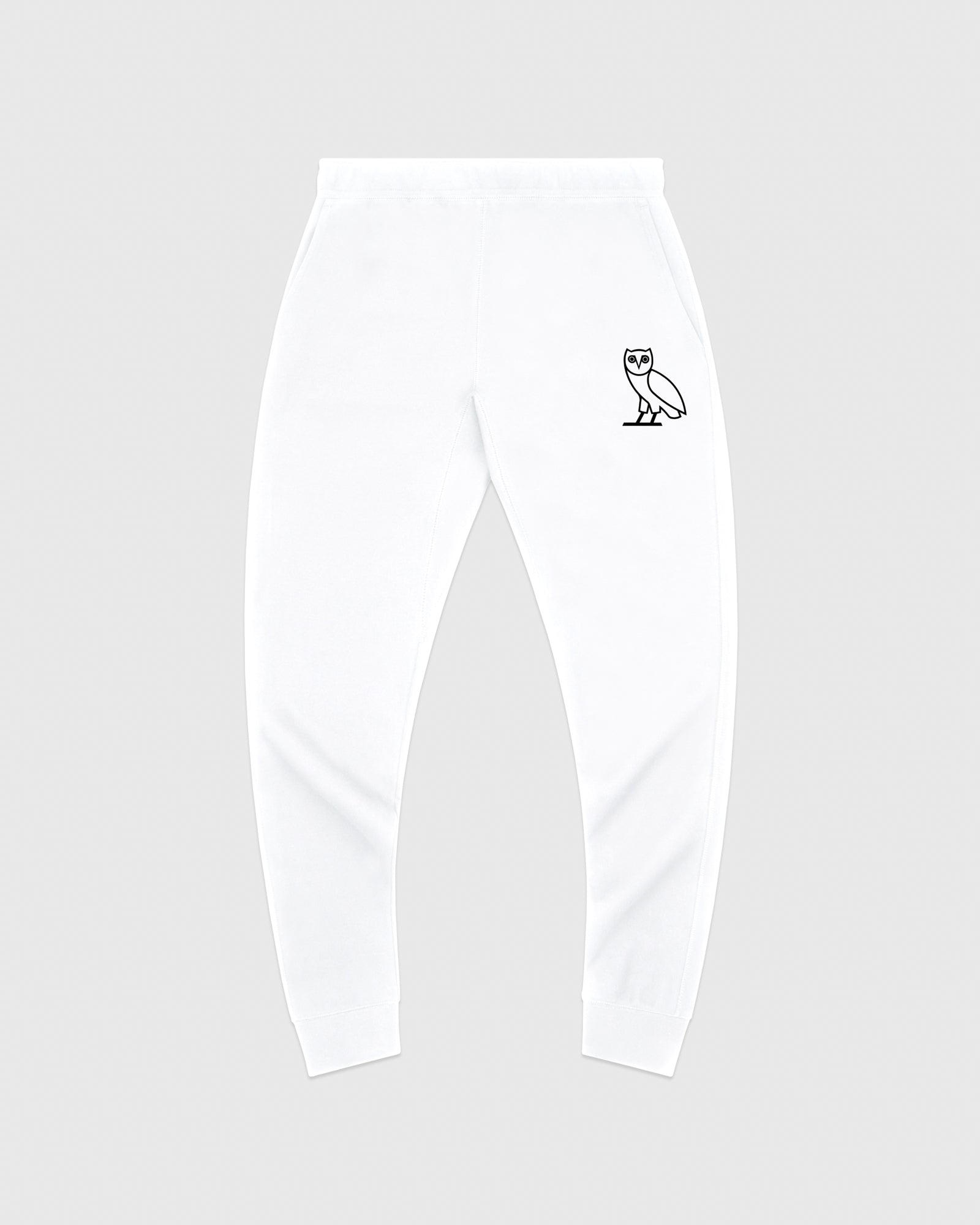 DOUBLE KNIT SWEATPANT - WHITE IMAGE #1