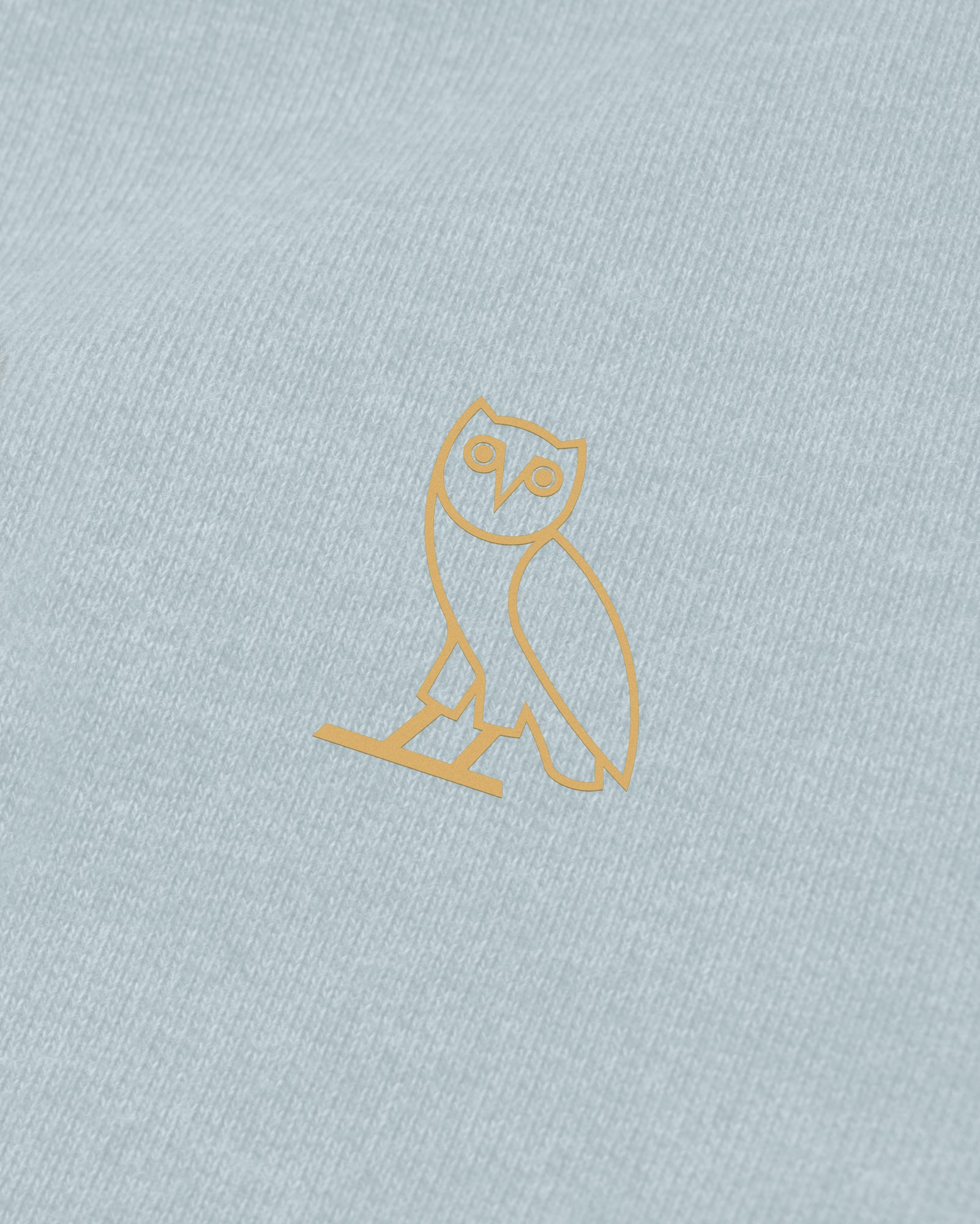 OVO FRENCH TERRY HOODIE - HEATHER LIGHT BLUE IMAGE #3