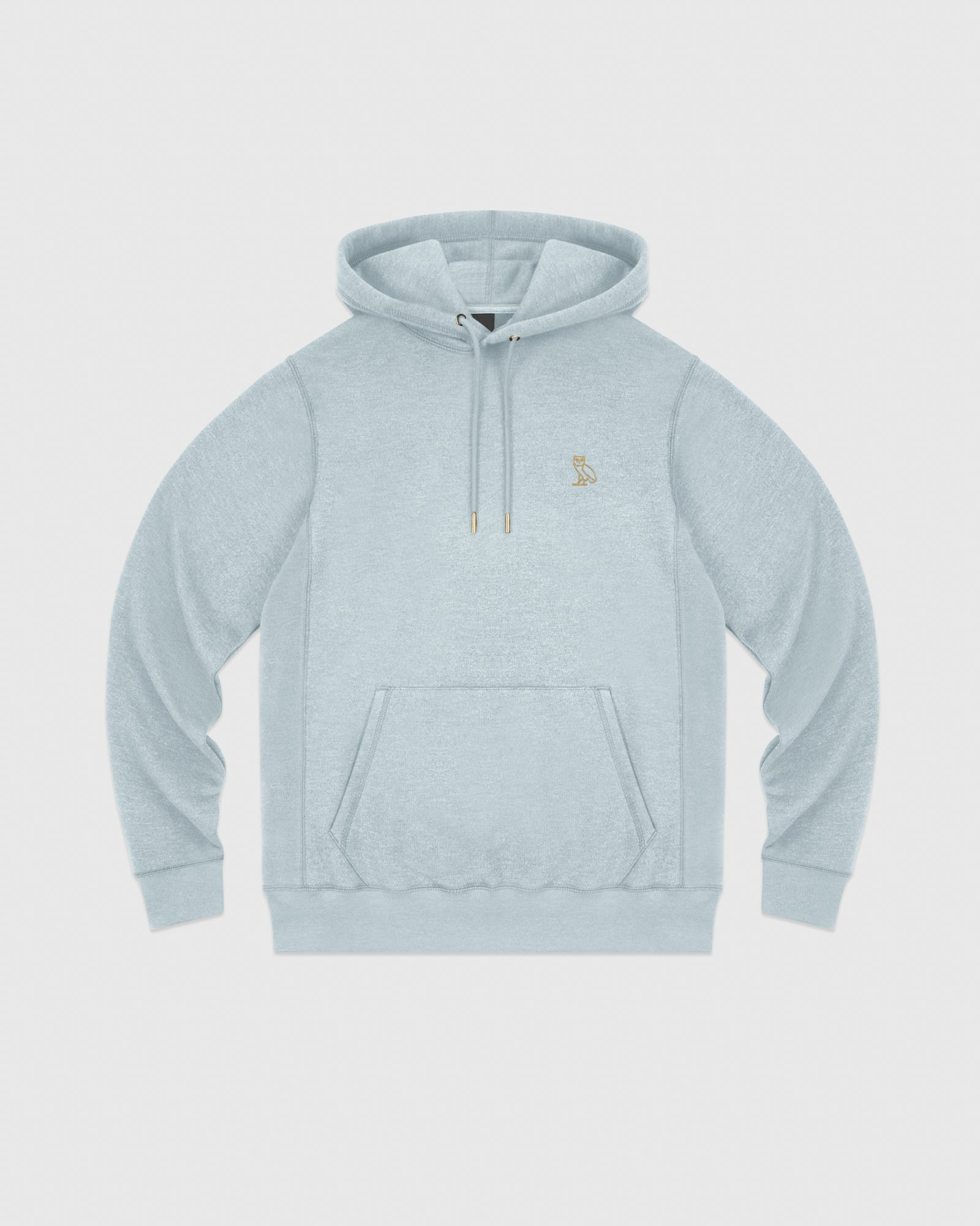 OVO FRENCH TERRY HOODIE - HEATHER LIGHT BLUE IMAGE #1