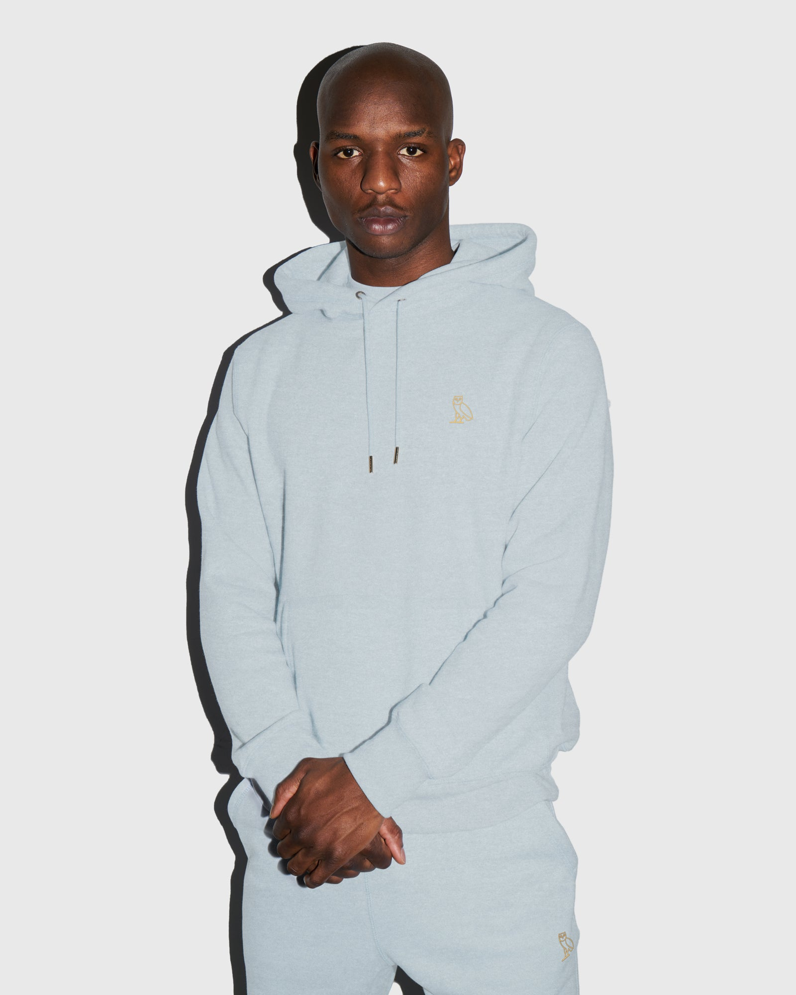 OVO FRENCH TERRY HOODIE - HEATHER LIGHT BLUE IMAGE #2
